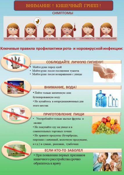 Кишечный грипп Норовирус.