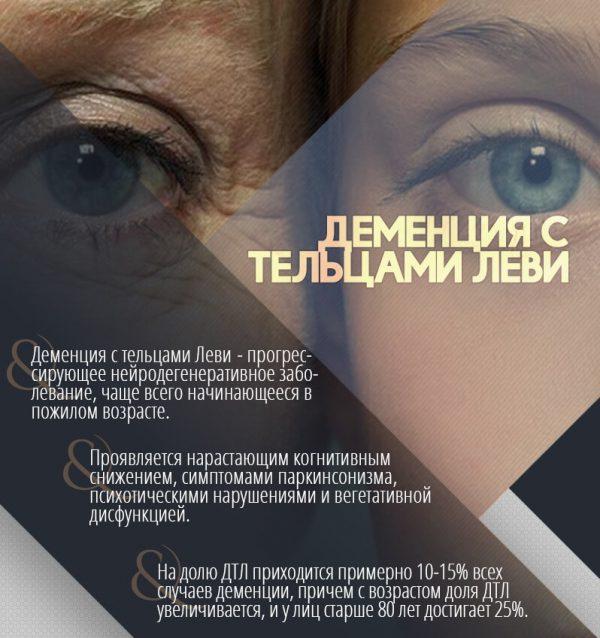 Деменции с тельцами Леви – симптомы и лечение