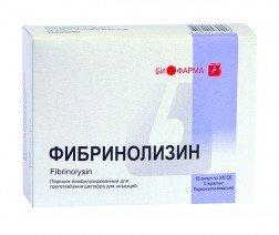 Фибринолизин — инструкция по применению, цена