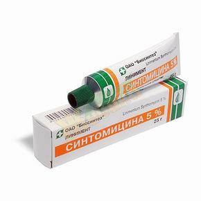 Синтомицина — инструкция по применению, цена