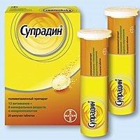 Витамины Супрадин — инструкция по применению, цена