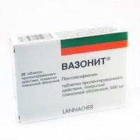 Вазонит 600 таблетки — инструкция по применению, цена