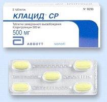 Клацид 125, 250, 500 мг — инструкция по применению, цена