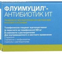 Флуимуцил-антибиотик ИТ для ингаляций — инструкция по применению, цена
