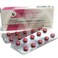 Тетрациклин таблетки — инструкция по применению, цена