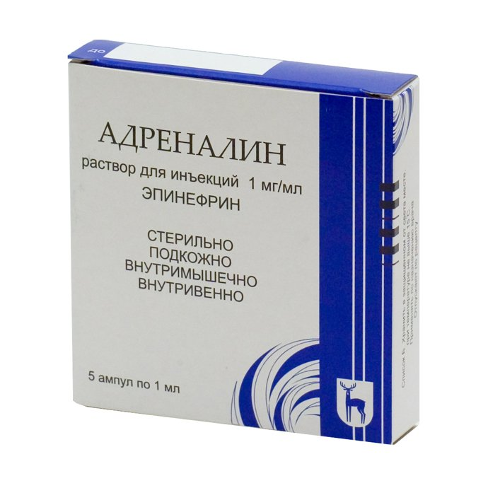 Адреналина гидрохлорид — инструкция по применению, цена
