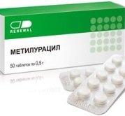 Таблетки Метилурацил — инструкция по применению, цена