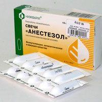 Свечи анестезол — инструкция по применению, цена