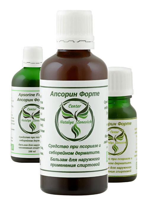 Бальзам Апсорин Форте от псориаза и себорейного дерматита.